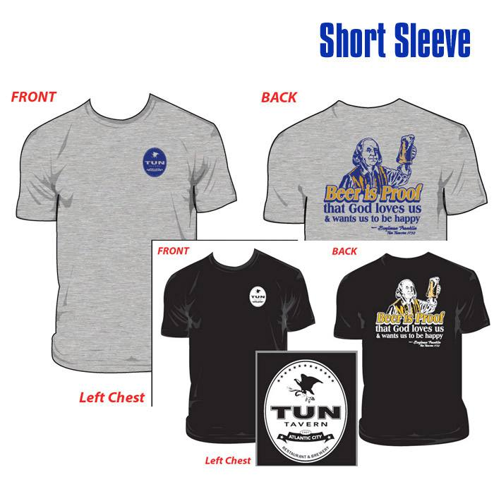 tun tavern merchandise - short sleeve tshirt with beef is proof of