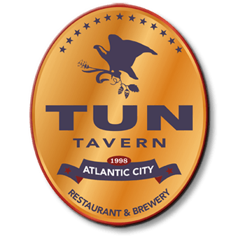 Tun Tavern Oval Logo large sumperimposed over all slider images